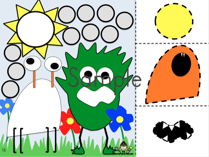 Monster Cutting Activities and Fine Motor Activities