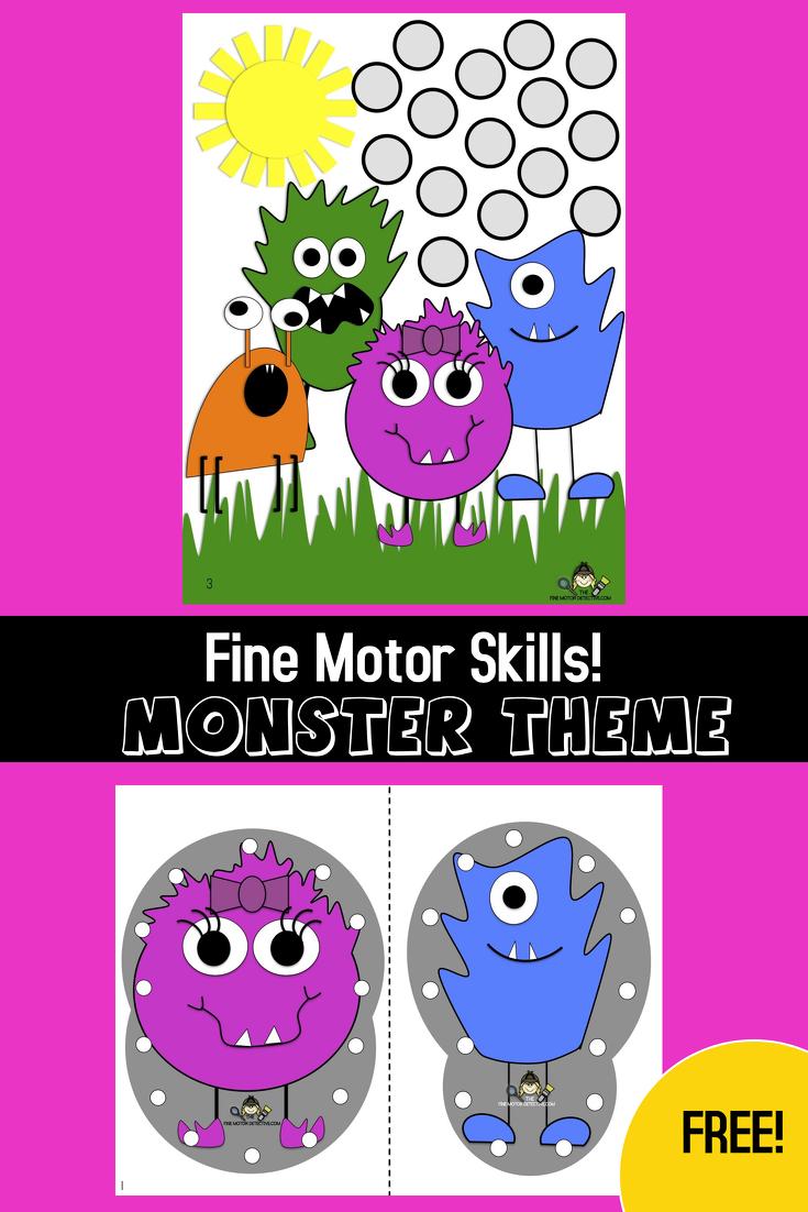 Monster Fine Motor Activities