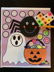 Halloween Scissor Skills with sticker activity