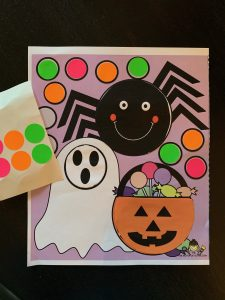 halloween cutting activities with stickers