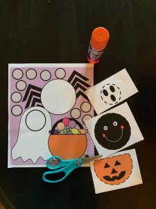 Halloween Cut and paste printable