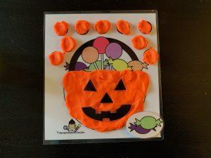 Halloween Play dough Mat