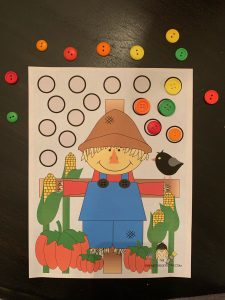Fine Motor Activity with buttons