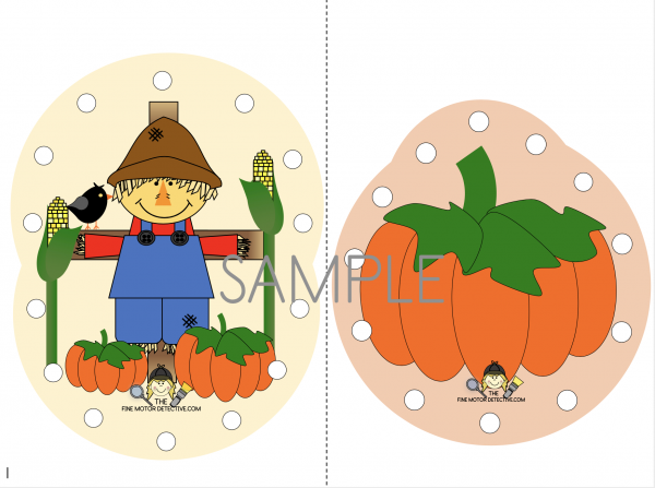 Scarecrow Lacing cards