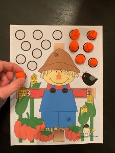 Scarecrow Play dough activity