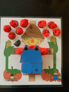 Scarecrow Play dough finished