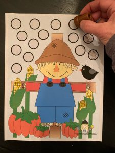 Scarecrow Stamping Activity