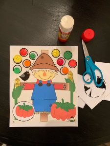 Cut and Paste Scarecrow Activity