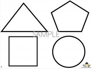 Shape cutting activity