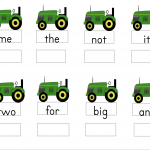 Farm Activities Sight Word Practice