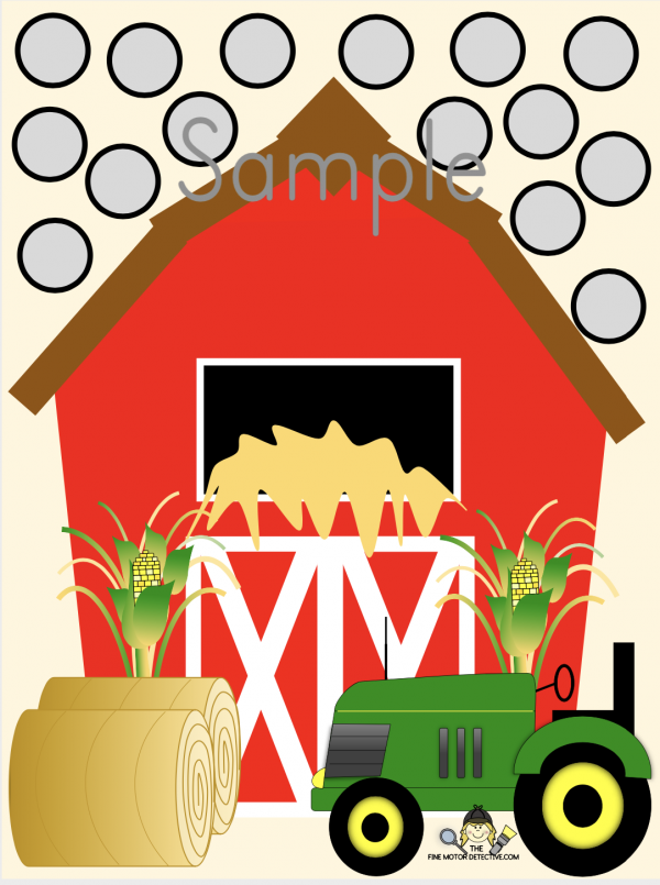 Farm Fine Motor Worksheet