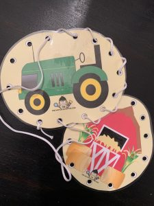 Farm Fine Motor Activities Lacing Cards