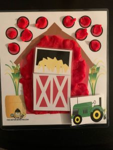 Farm Play dough Mat