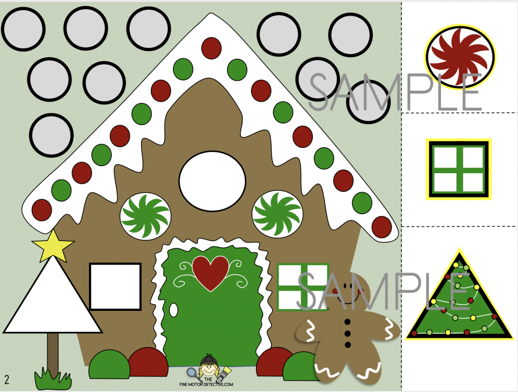 FREE Gingerbread Cutting Activities
