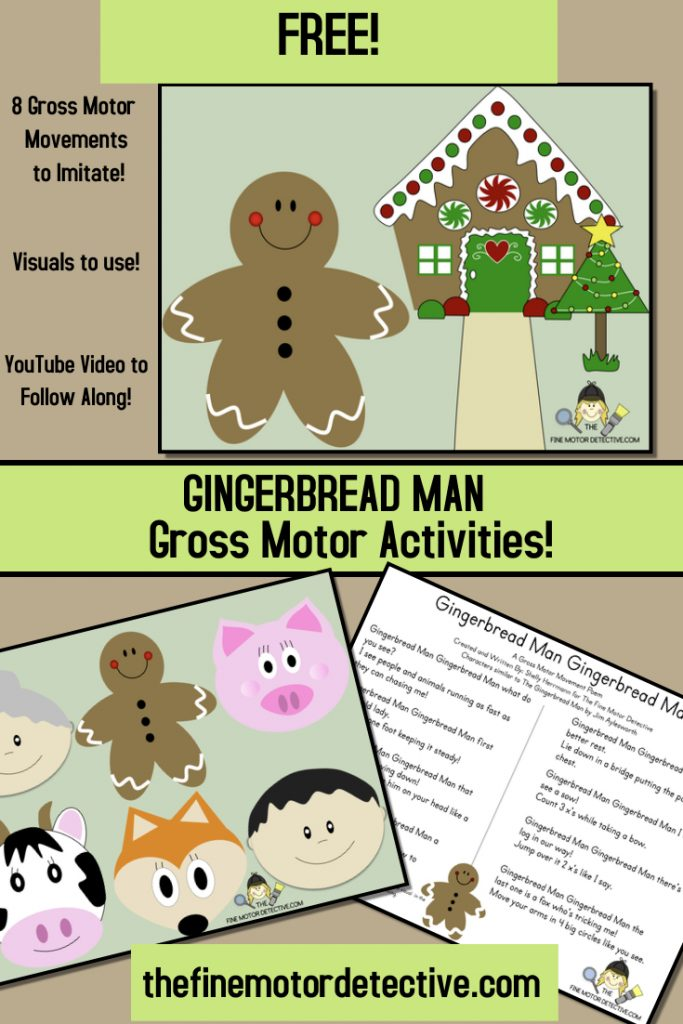Gingerbread Man Gross Motor Activities