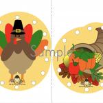Free Thanksgiving Lacing Card Printables
