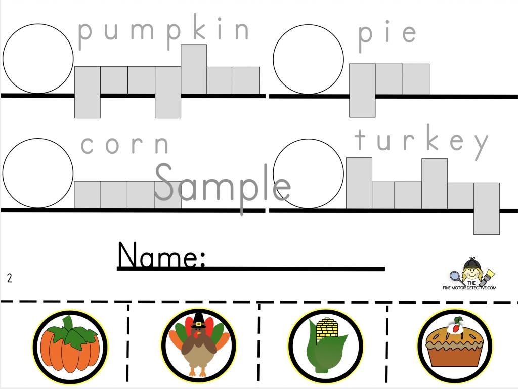 Thanksgiving Handwriting Practice
