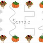 Thanksgiving Pencil Control Printable