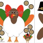 Free Thanksgiving Play dough Printable