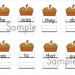Free Thanksgiving Sight Word Practice