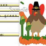 Thanksgiving Sentence writing Practice