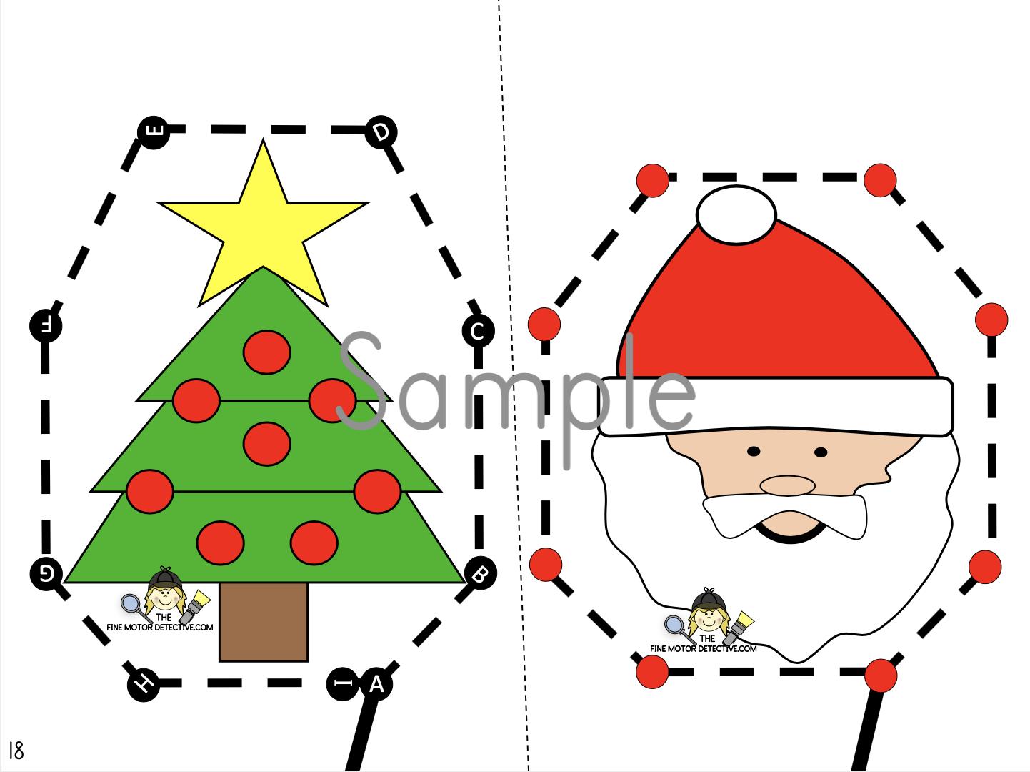 Christmas Cutting Activities