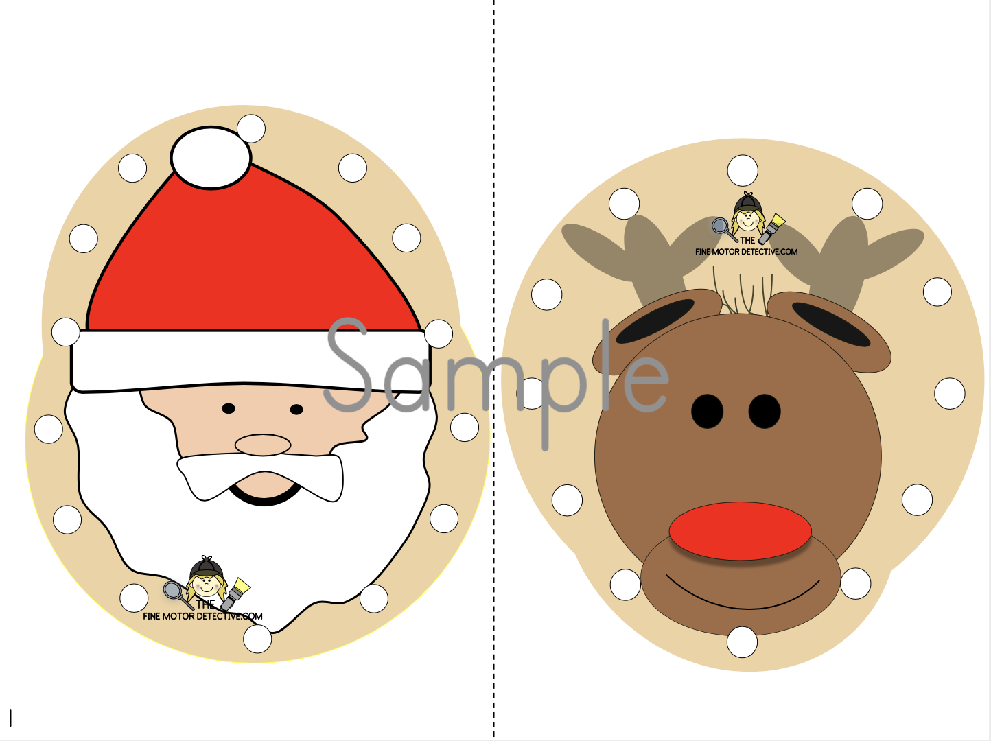 Christmas Lacing Cards
