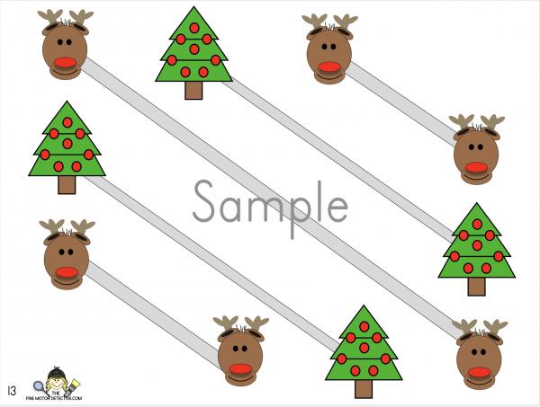 Christmas Diagonal Lines