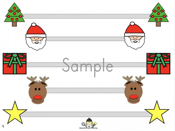 Christmas Horizontal Lines