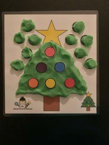 Tree Play dough Mat
