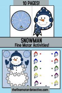 Snowman Fine Motor Activities