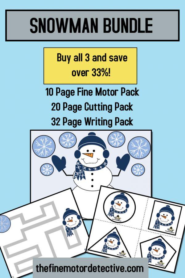 Snowman Bundle Activities