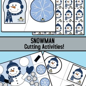 Snowman Cutting Activities