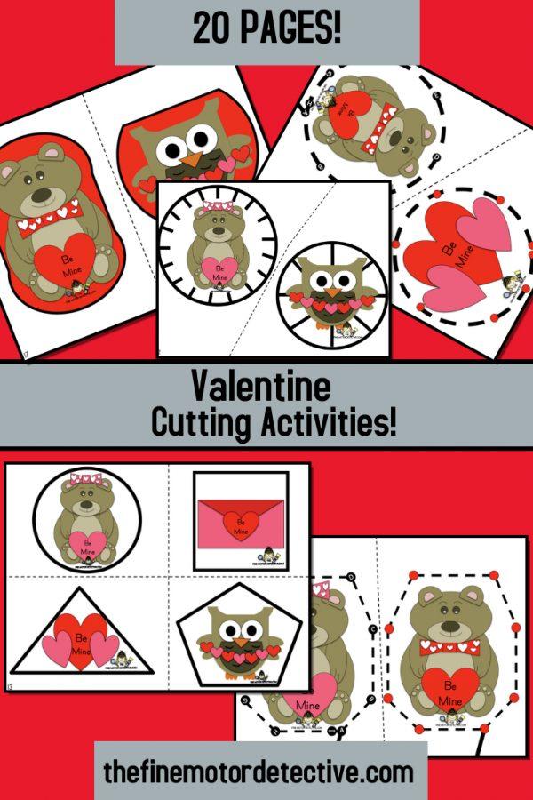 Valentine's Day Cutting Activities