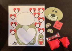 Valentine's Day Play Dough Mat
