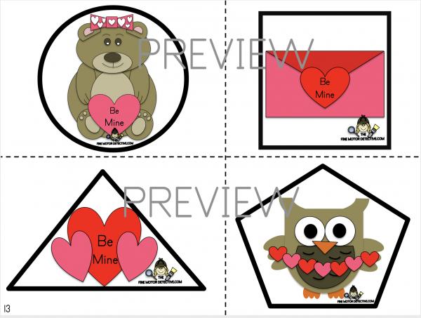 Valentine's Day Shape Cutting Practice