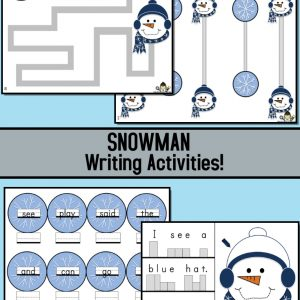 Snowman Writing Activities