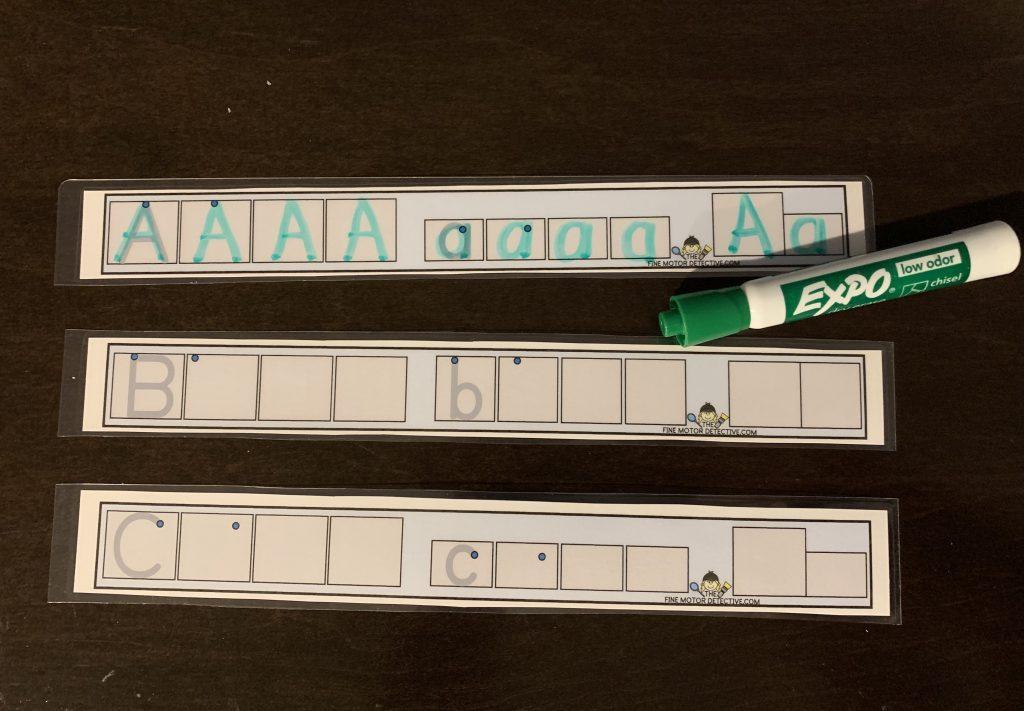 Alphabet writing Activities