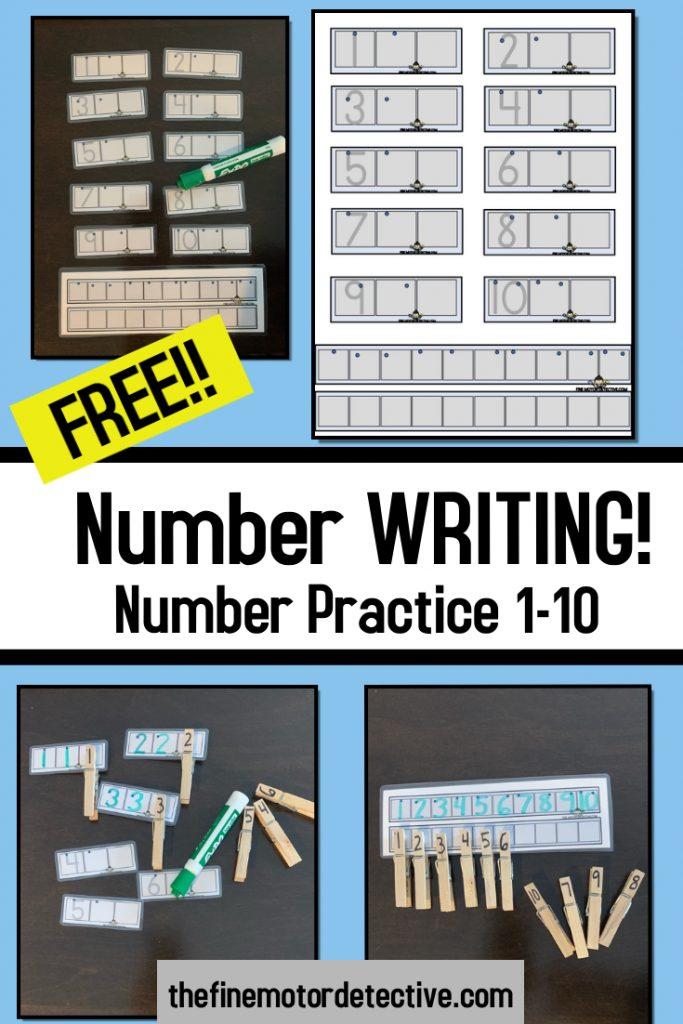 Free Number Writing Printable