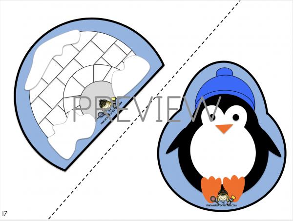 Penguin Cutting Activities