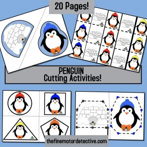 Penguin Cutting Activities