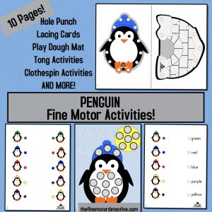 Penguin Fine Motor Activities