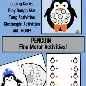 Penguin Fine Motor Printables