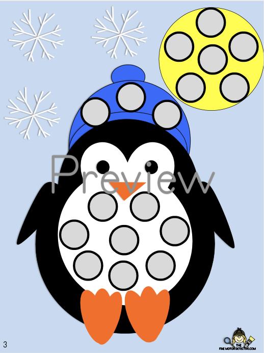 Penguin Fine Motor Activities