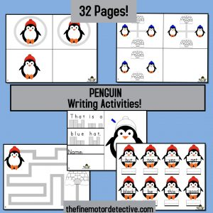 penguin writing activities