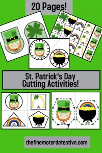 St. Patrick's Day Cutting Activities