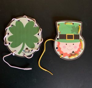 St. Patrick's Day Lacing Cards