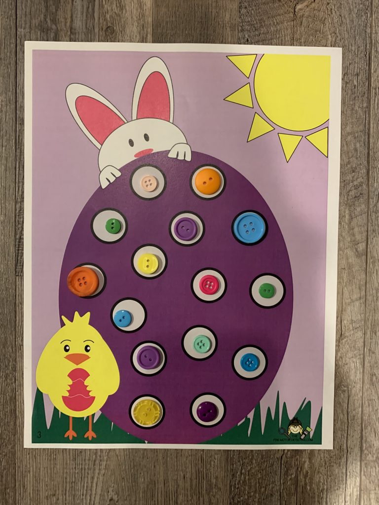 Easter Button Activity