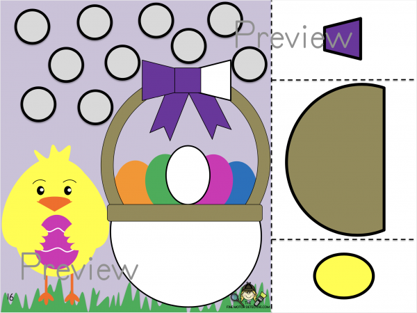 Easter Cut and Paste Printable