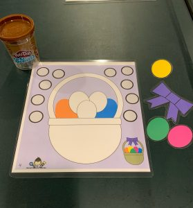 Easter Play Dough Mat